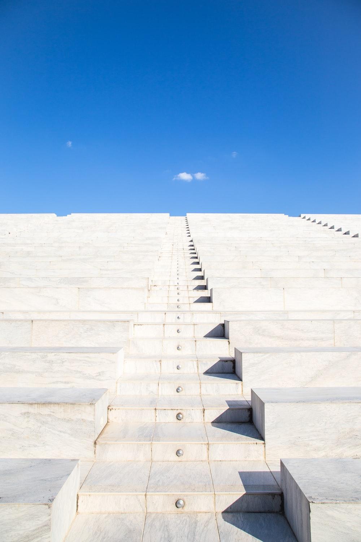 gray concrete stair