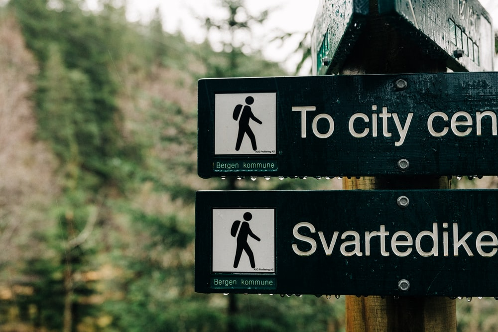 to city cen and swartedike road signages