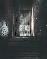 stairs heading for open door