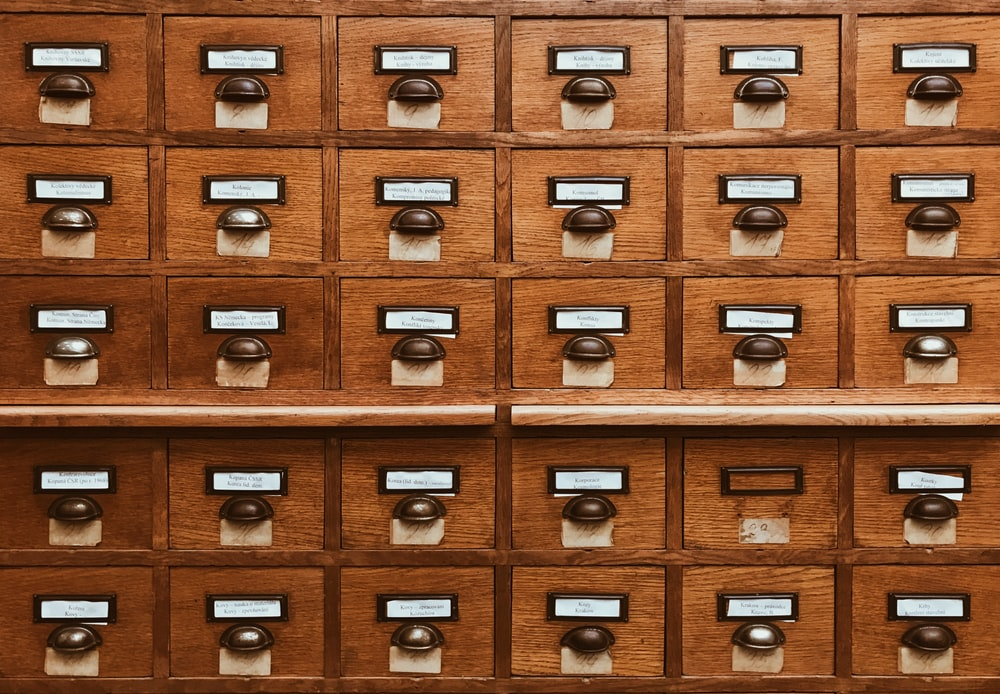 brown wooden drawer