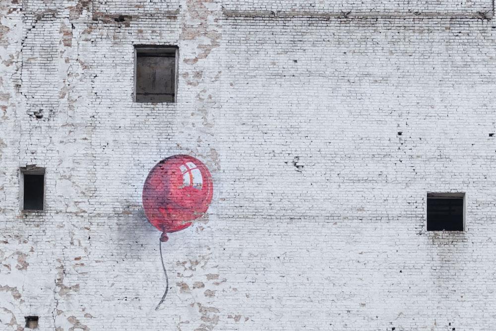 red balloon wall graffiti