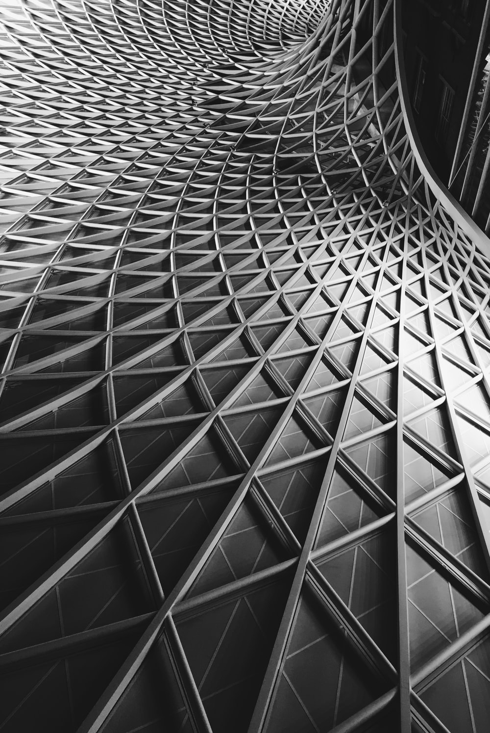 low angle photography of architecture