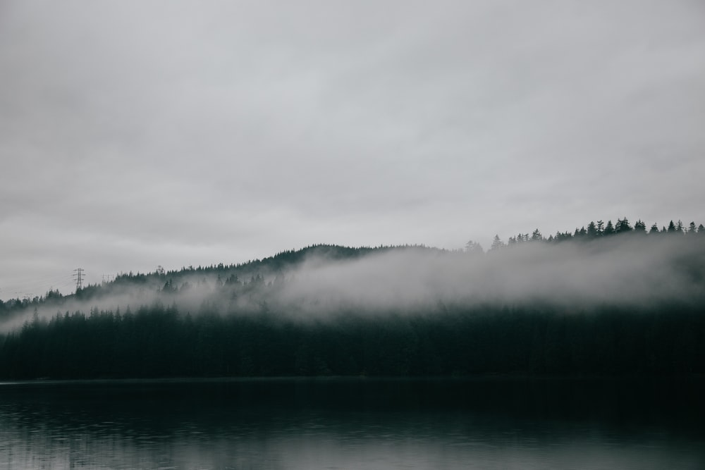 body of water under white cloudy sky