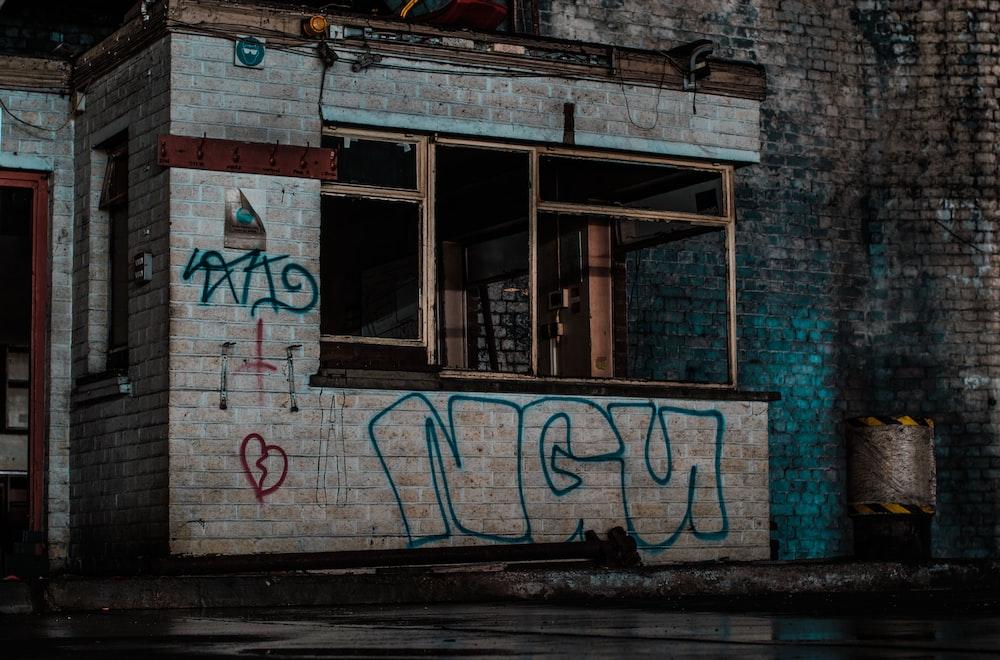 white bricked establishment