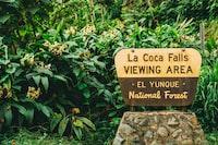 La Coca Falls viewing area signage