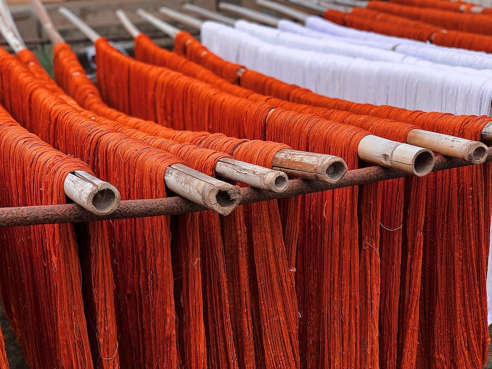 orange and white ropes