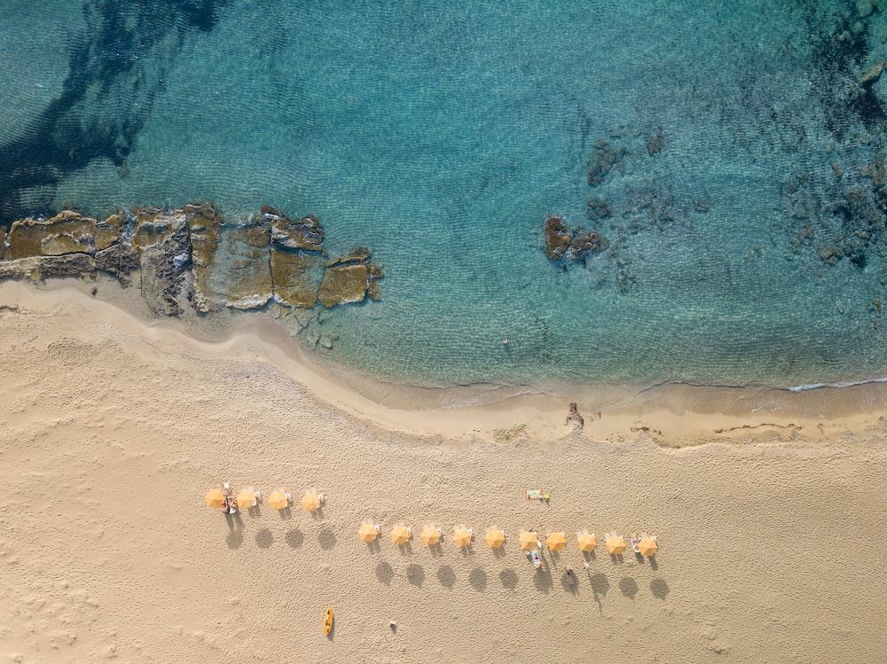 seashore aerial view