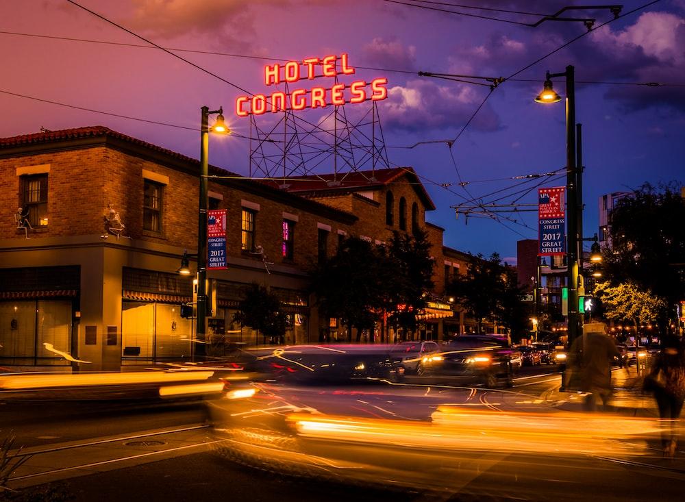 turn-onHotel Congress LED signage