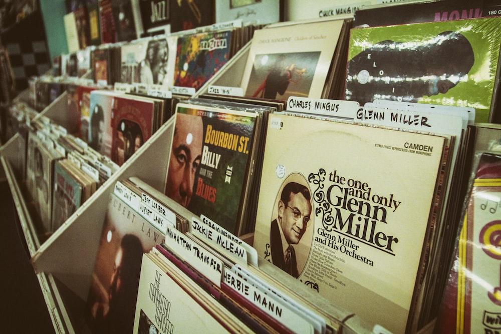 vinyl sleeves on rack