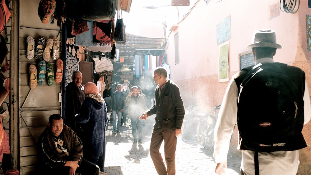 people in smoky alley