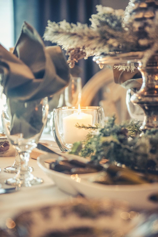 white pillar candle