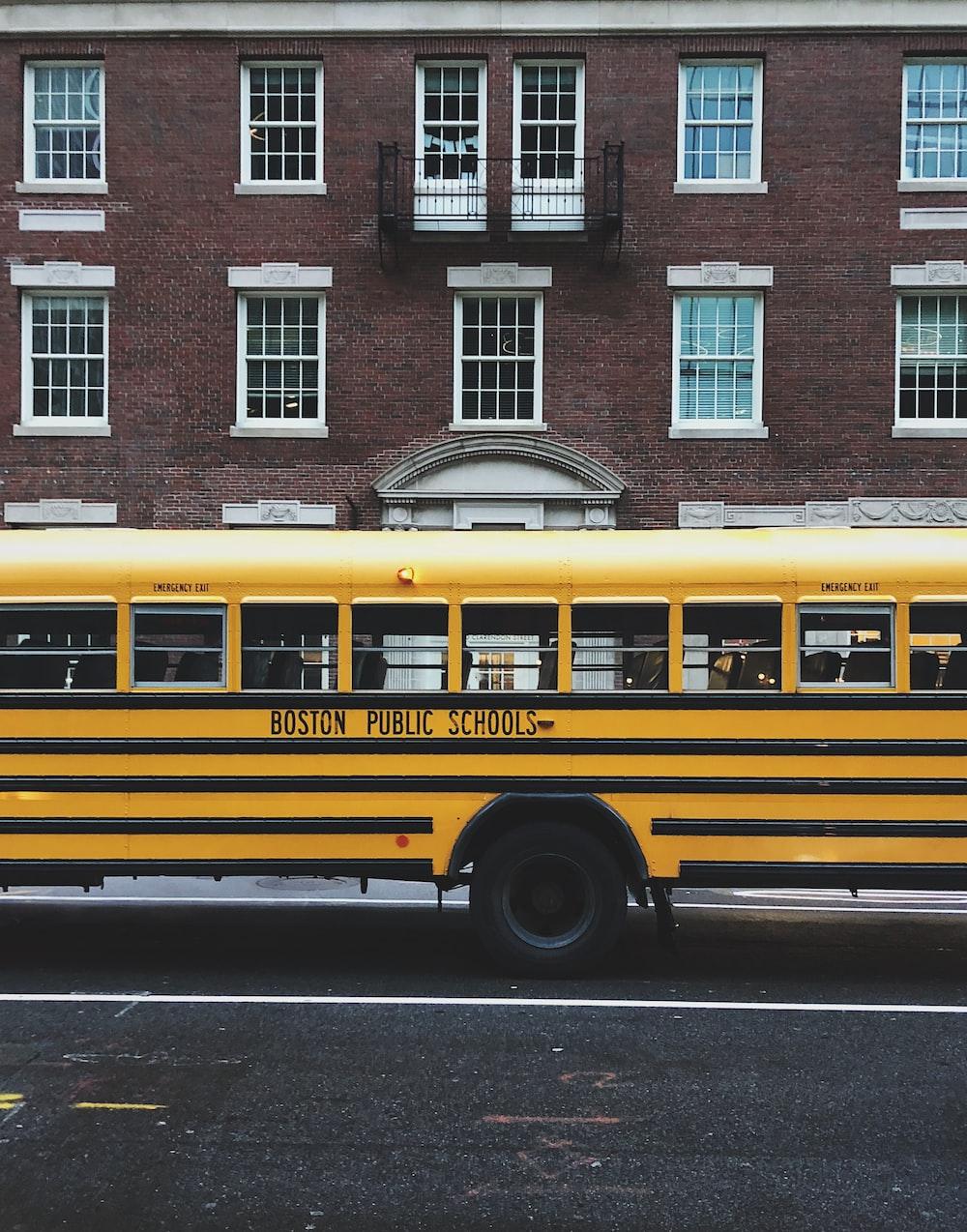 yellow Boston Public School bus