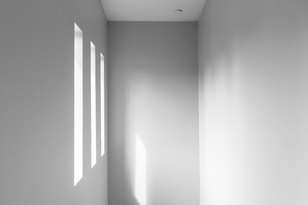 white empty hallway