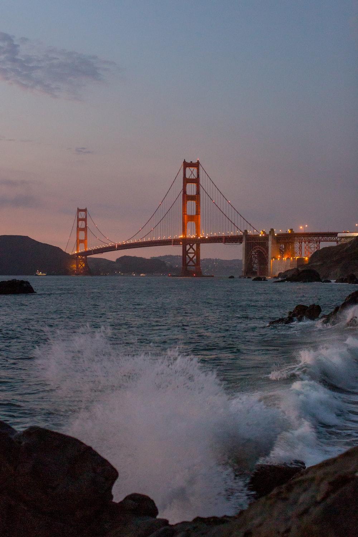 Golden Gate Bridge, San Francisco Bay during daytime