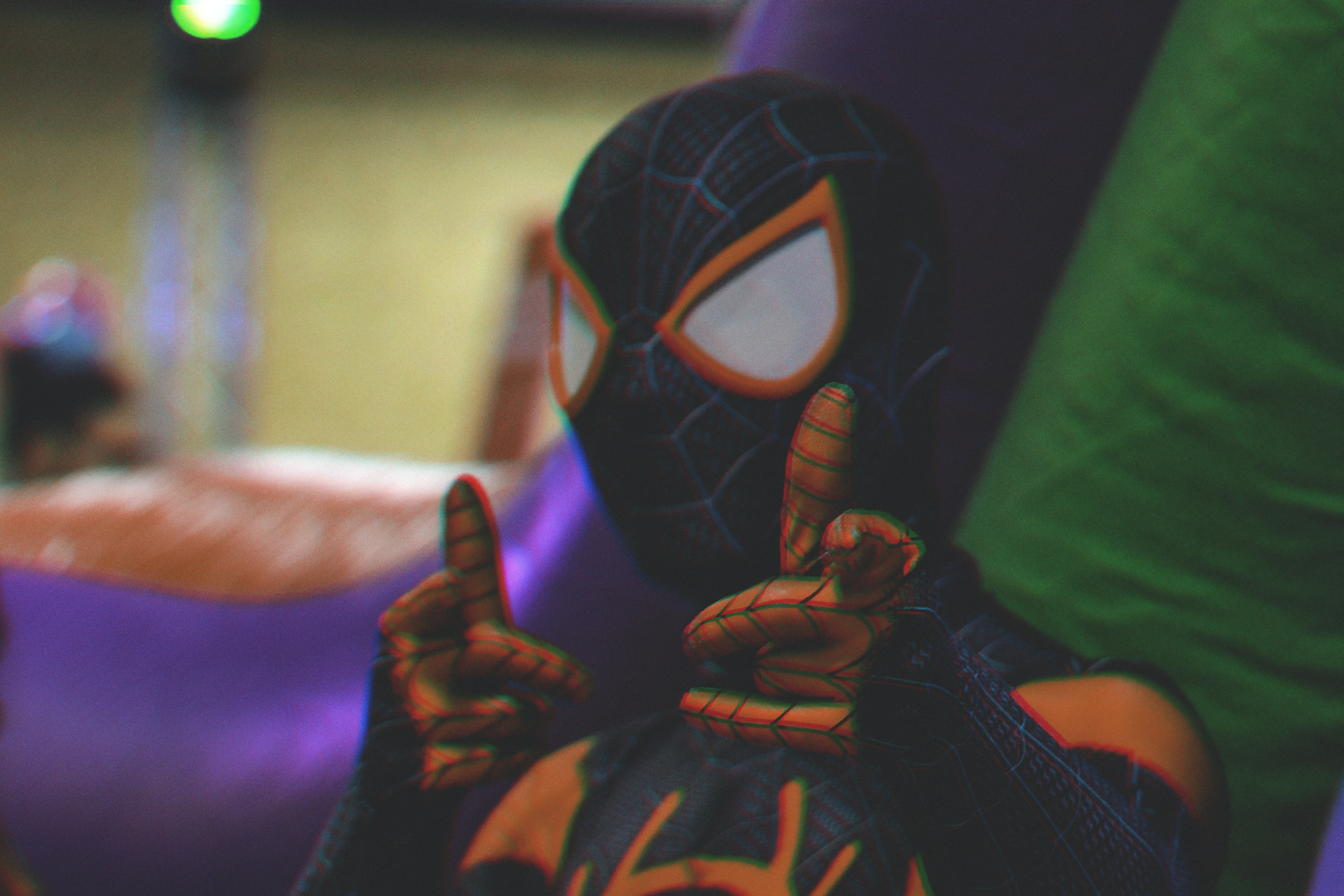 person wearing spider-man costume