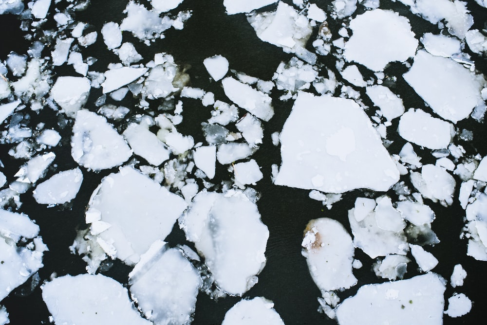 ices on body of water