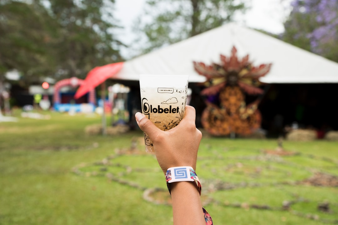 Reusable Globelet Cup from a Festival