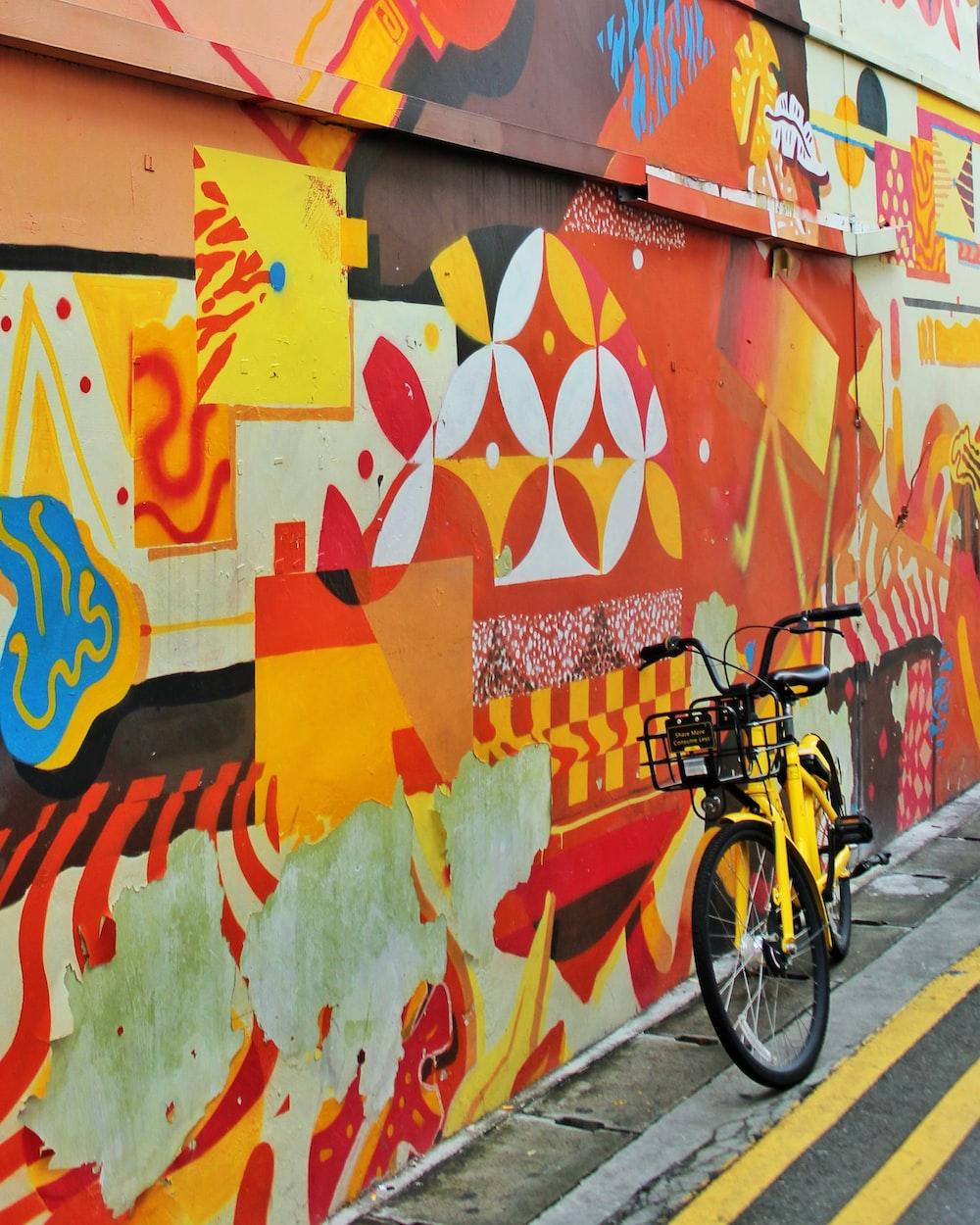 yellow and black bike