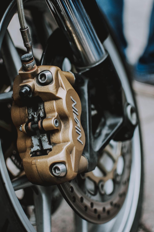 brown motorcycle disc brake