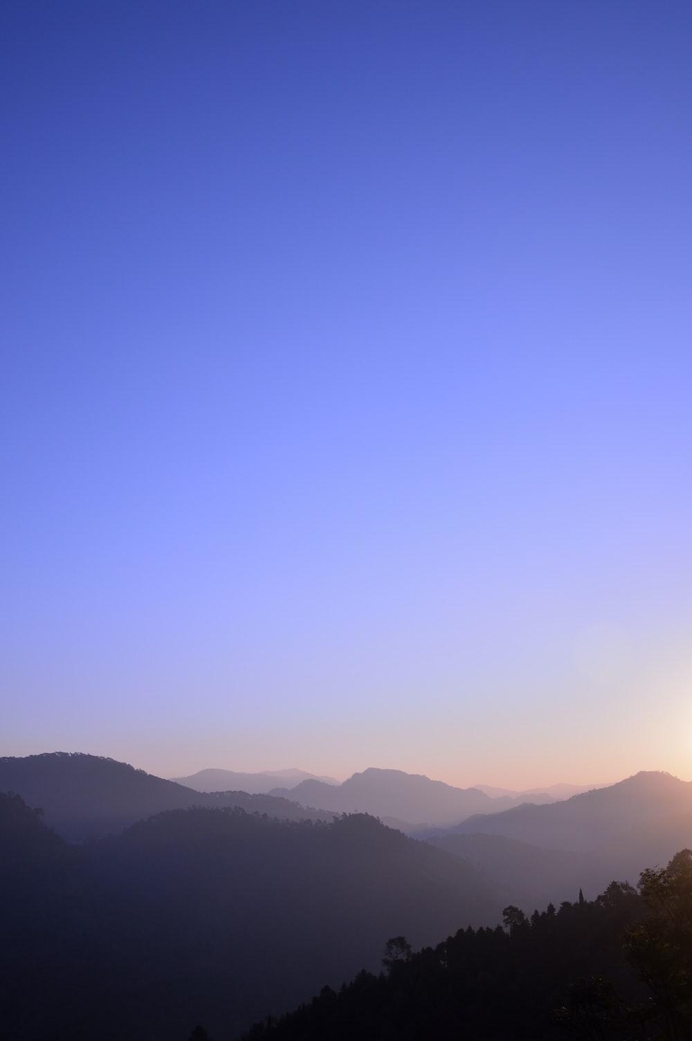 mountain ridge with fog