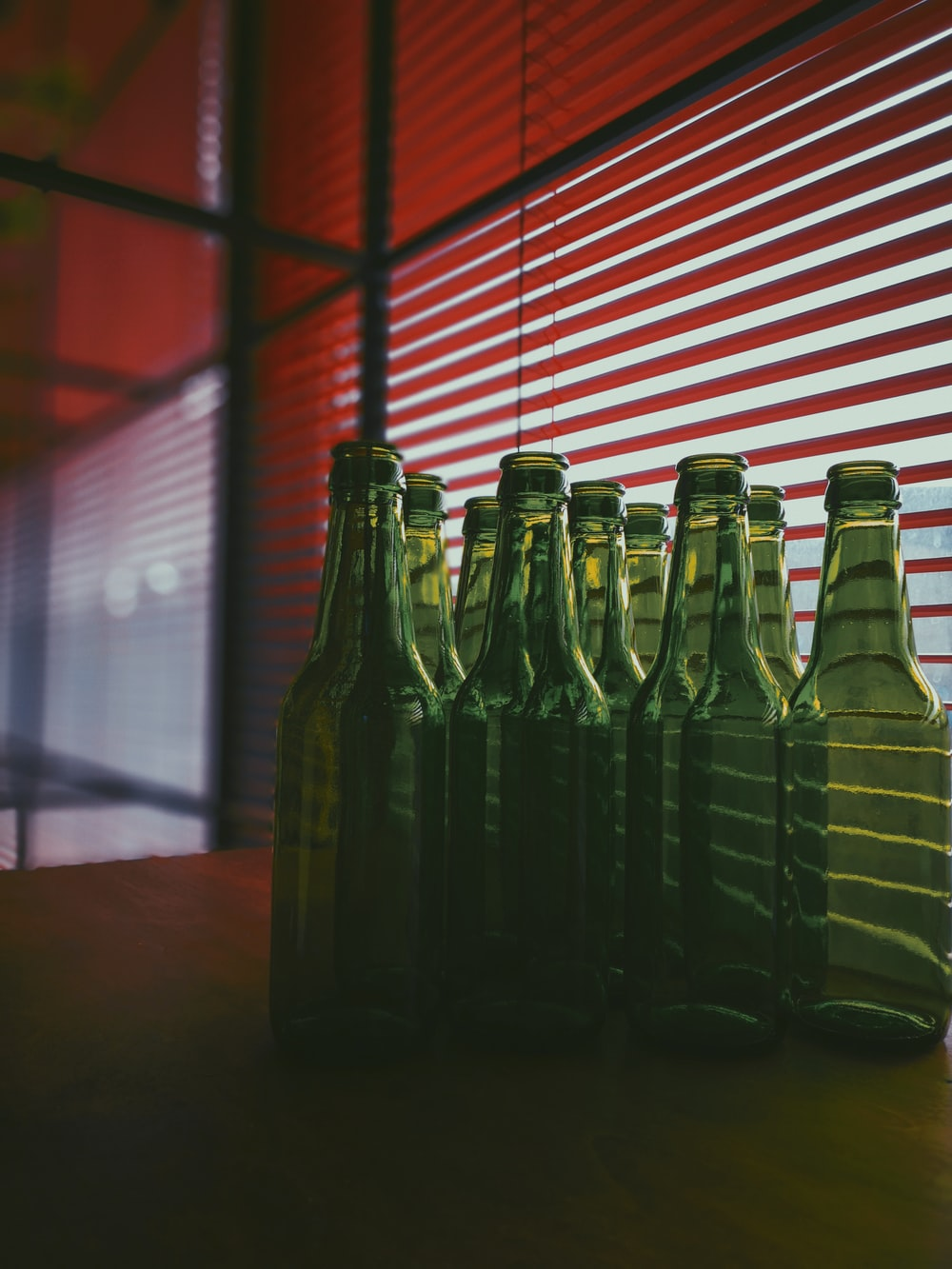 green glass bottle lot