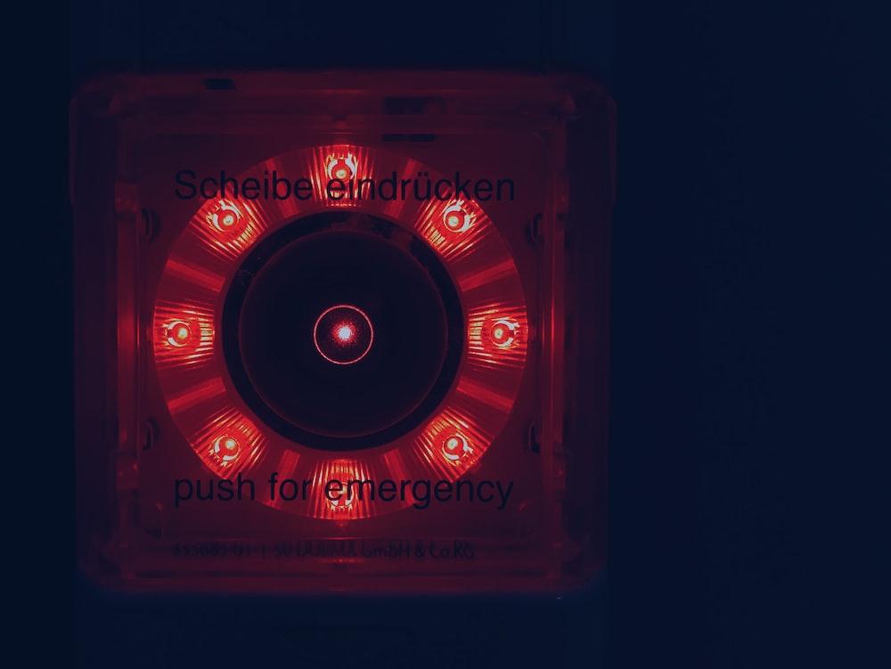 lighted red light
