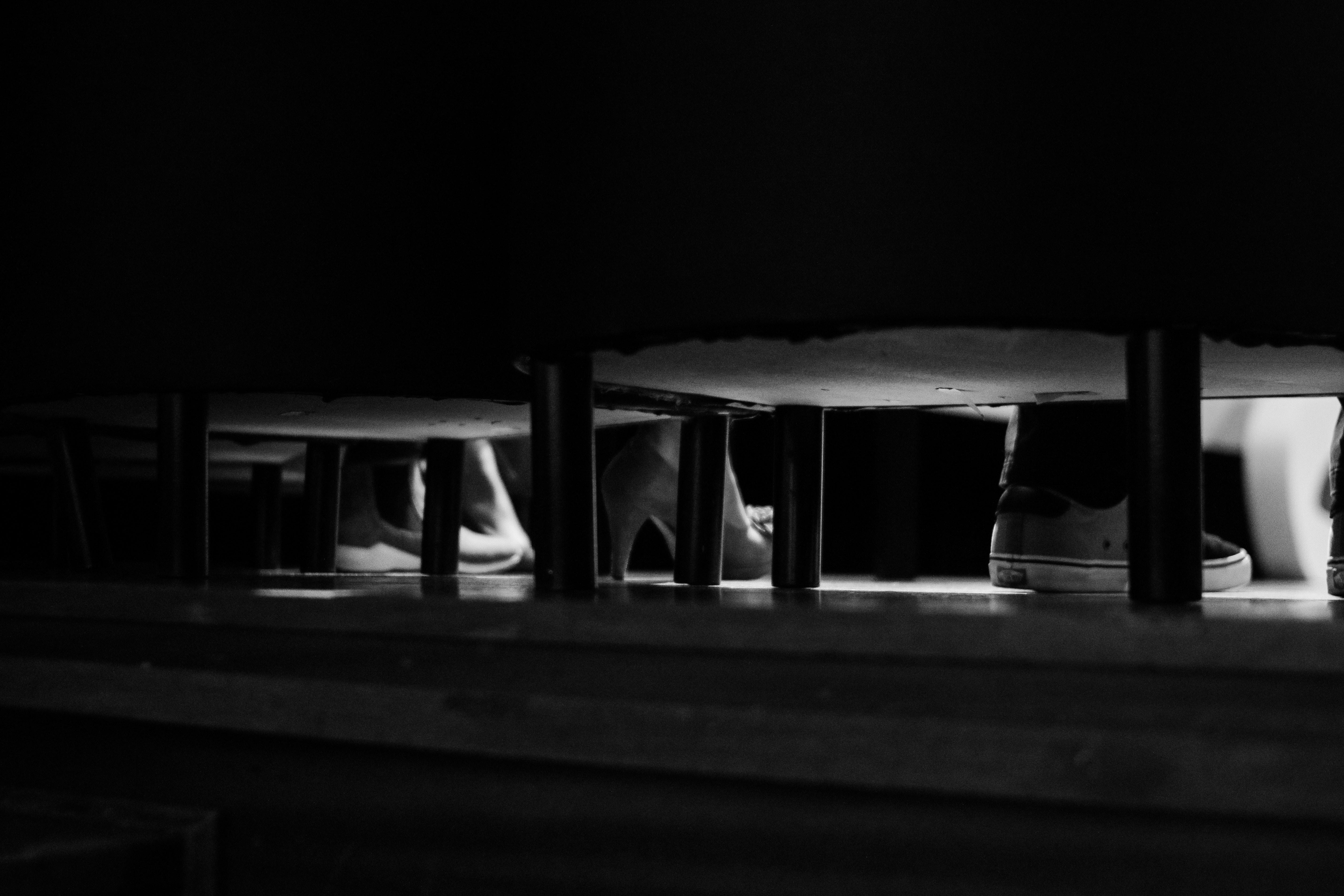 black wooden 3-layer rack