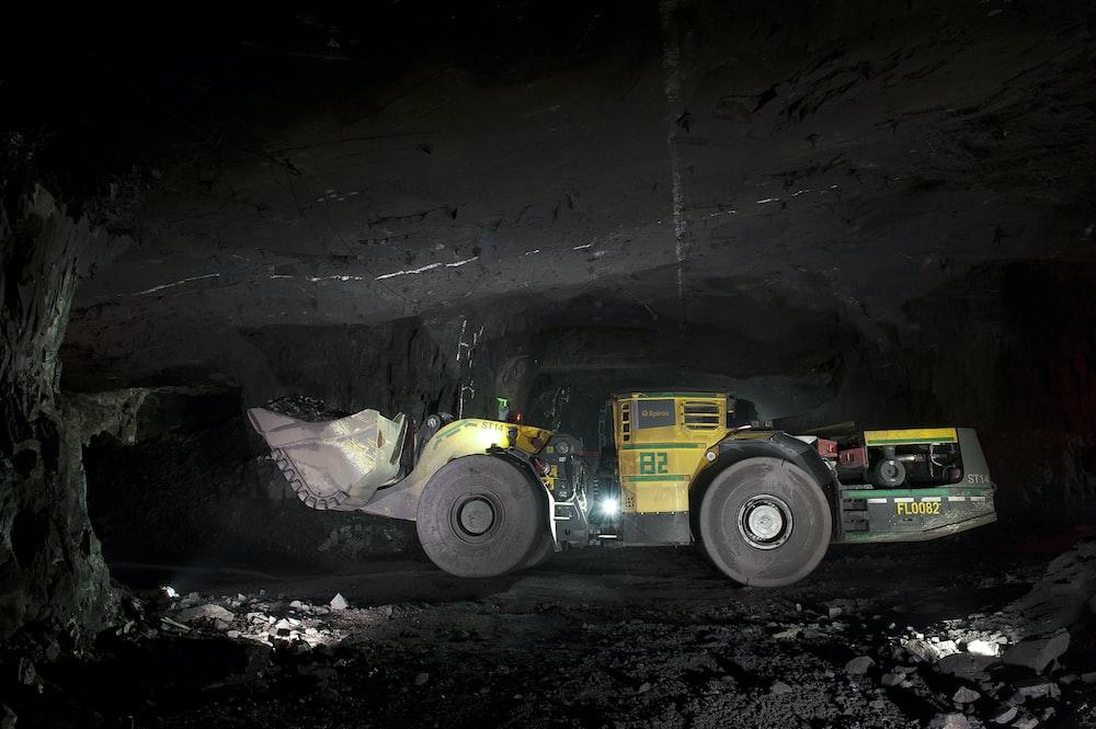 excavator inside tunnel