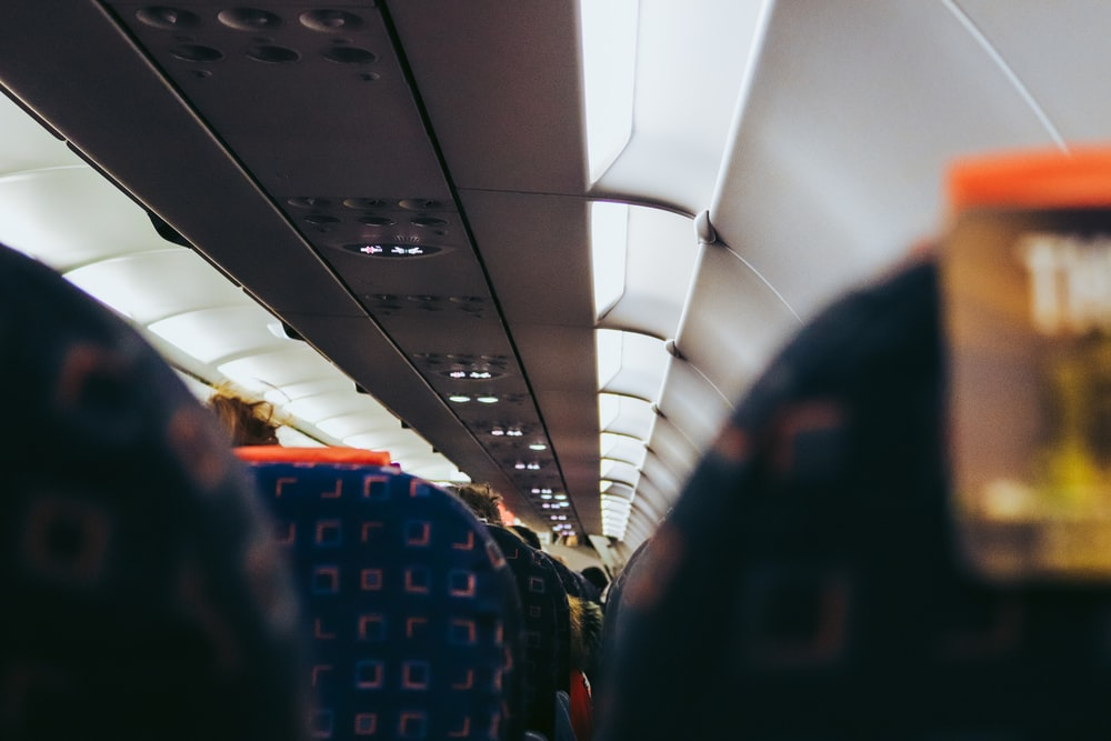 view of airliner interior