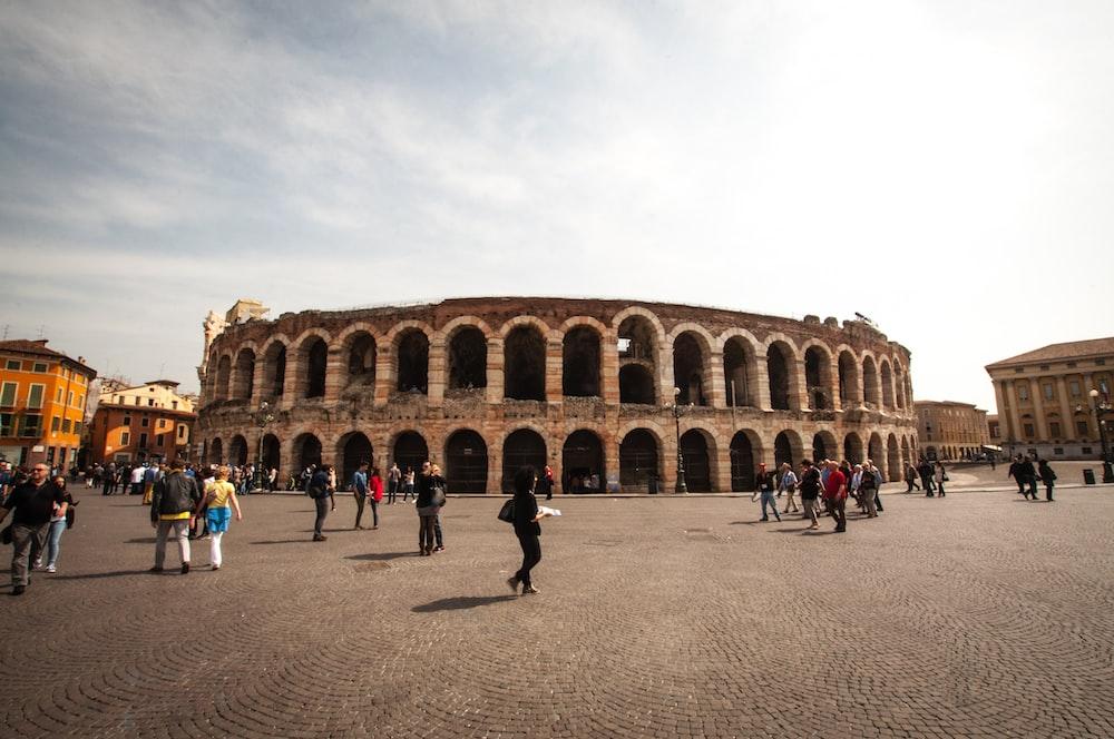 people near Colosseum