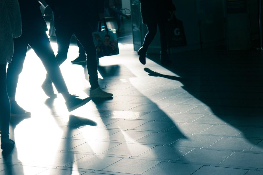 group of people walking
