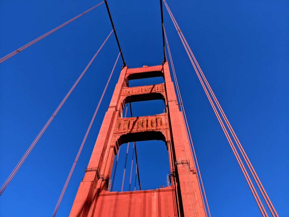low angle photography of Golden Gate bridge during daytime