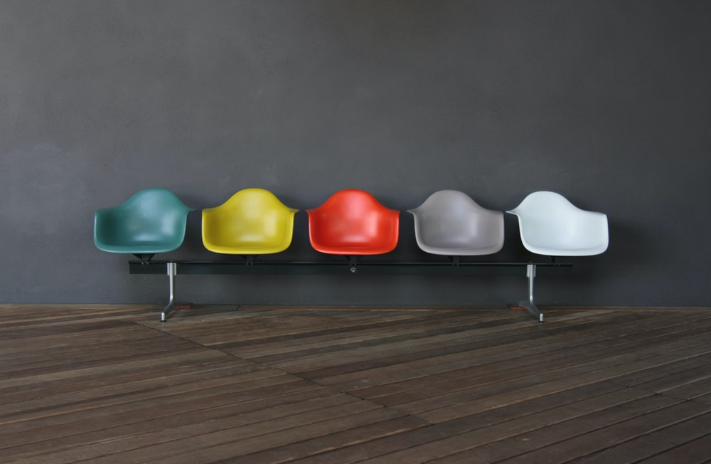 multi colored bench