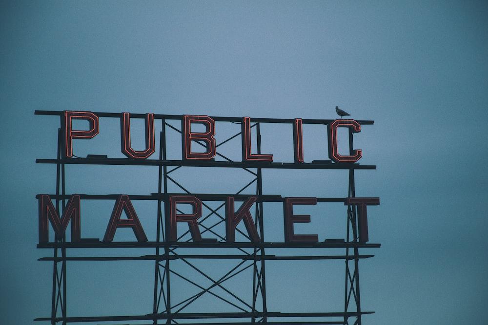red Public Market signage
