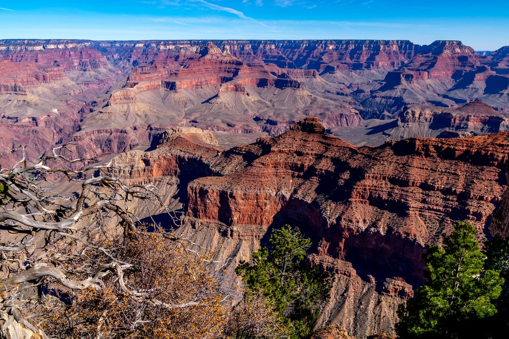 top view of red canyon