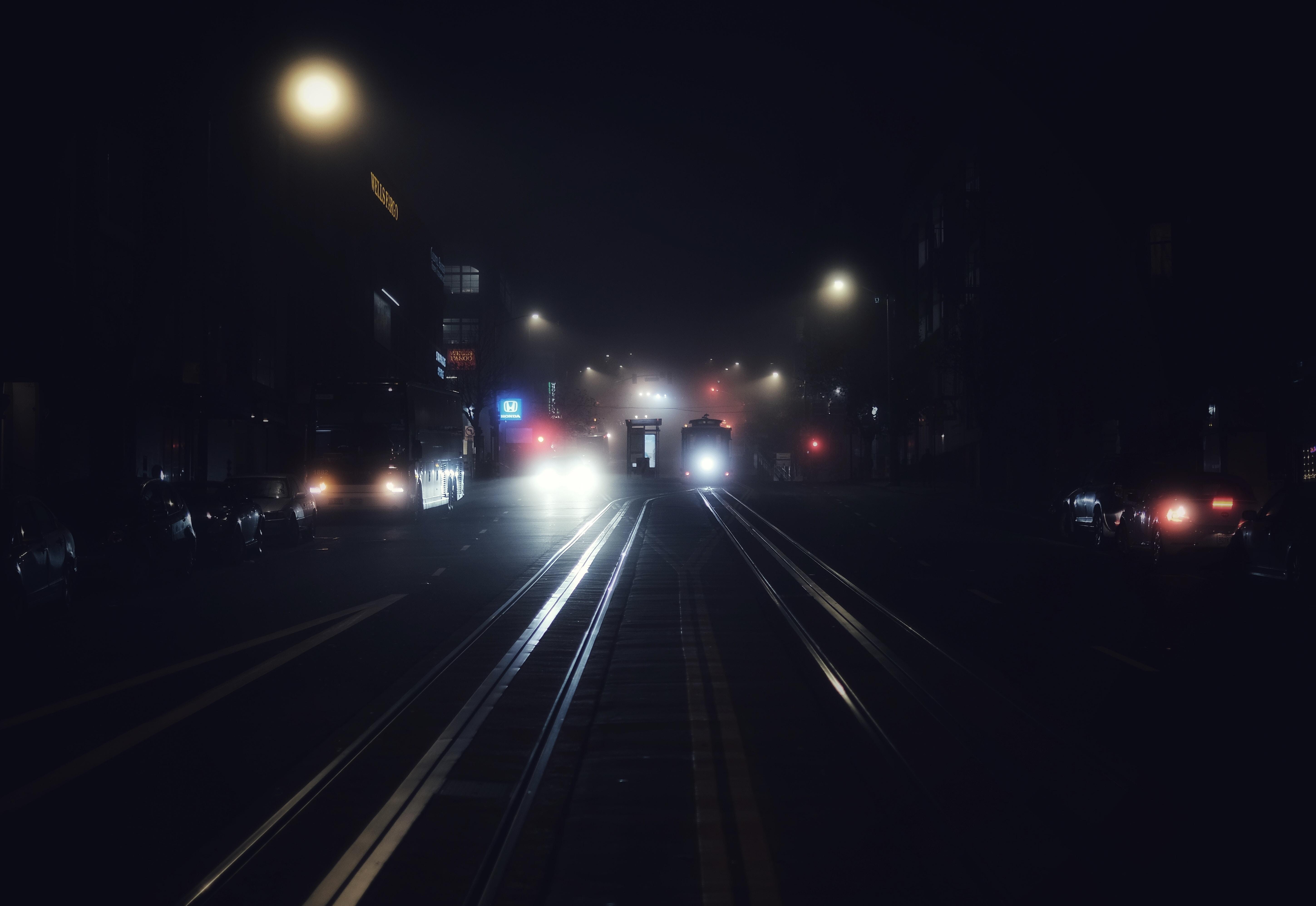 black and white LED light