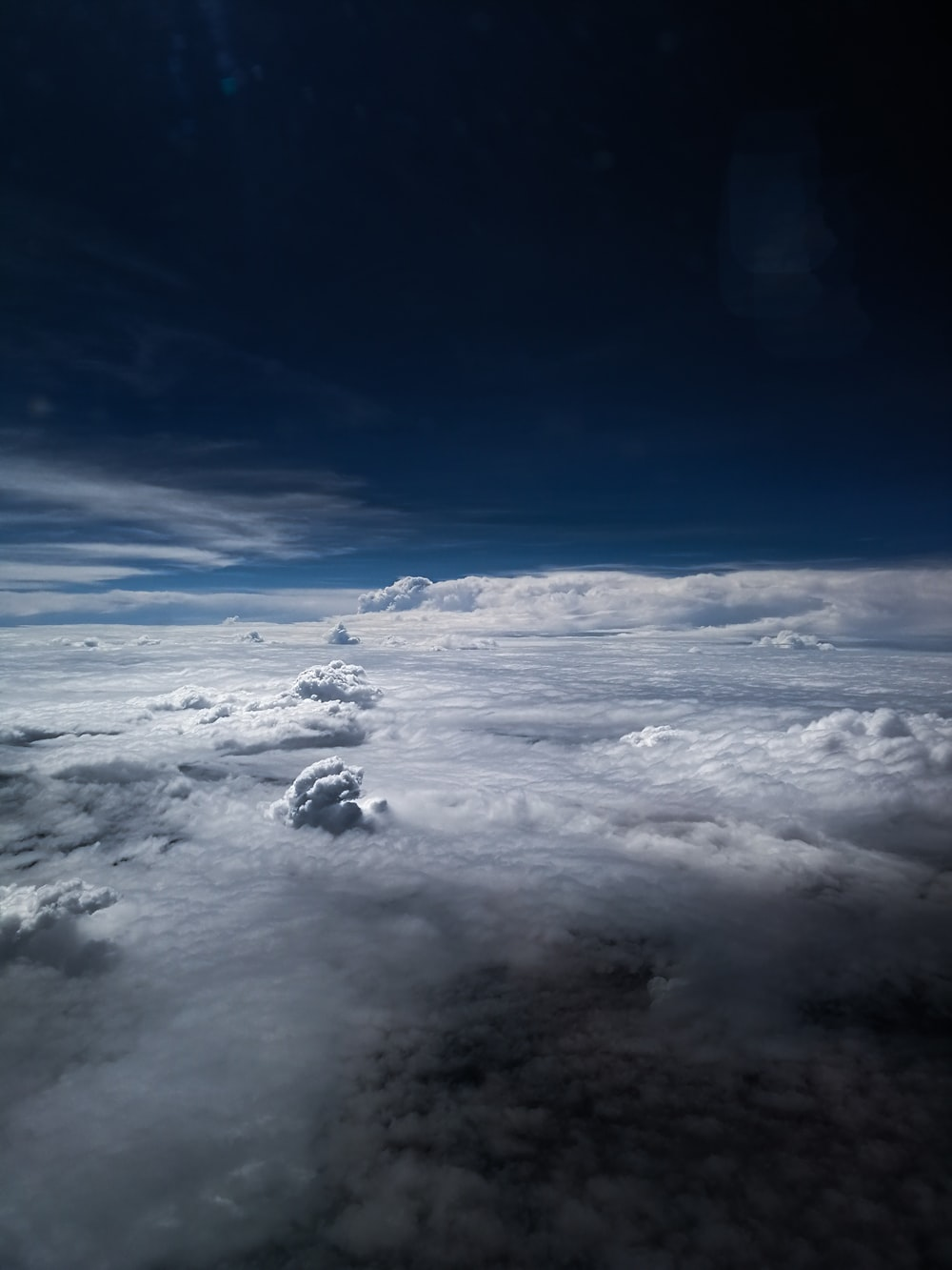 aerial photography of sea of clouds