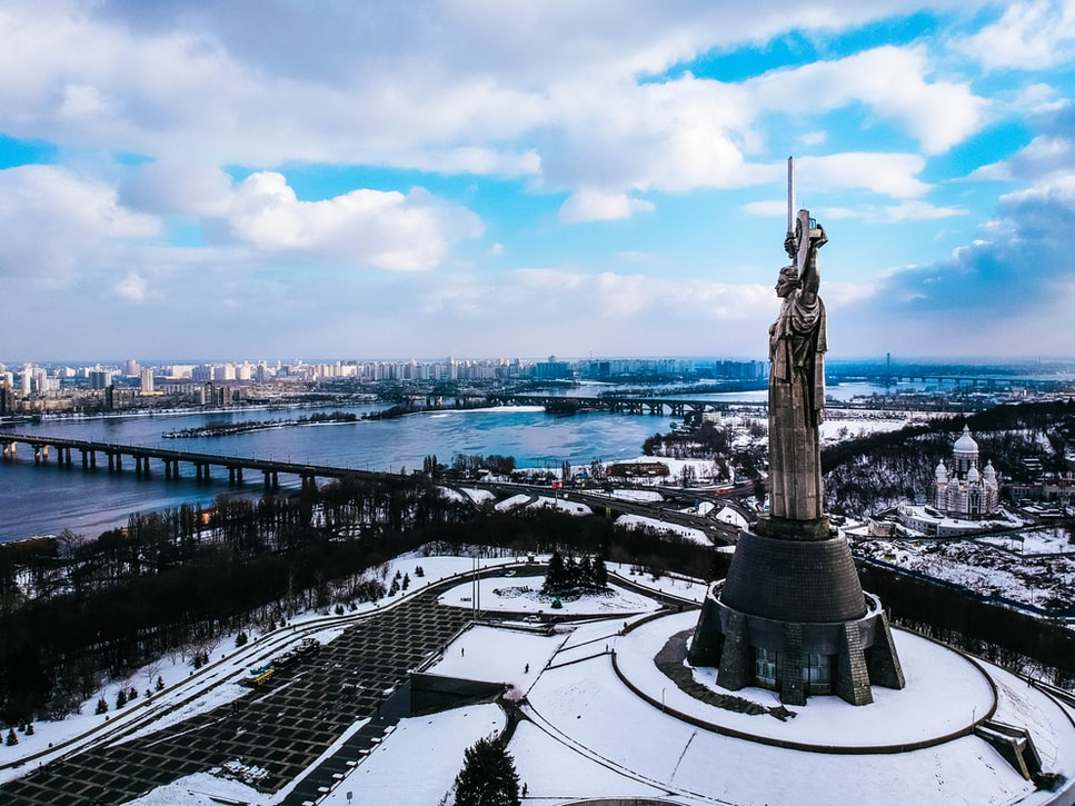 A view of the Motherland Monument: Top attractions to cover in Kiev.