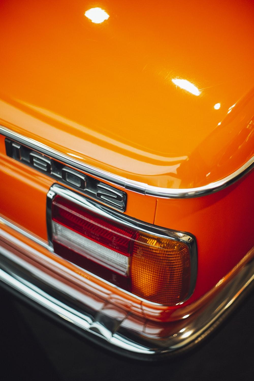 orange Mercedes-Benz 1802