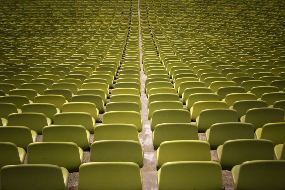 empty yellow chair lot