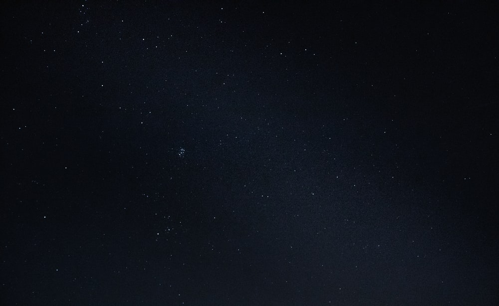 starry sky at nighttime