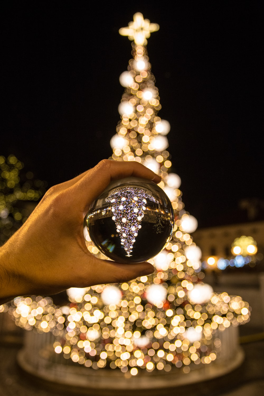 silver Christmas bauble
