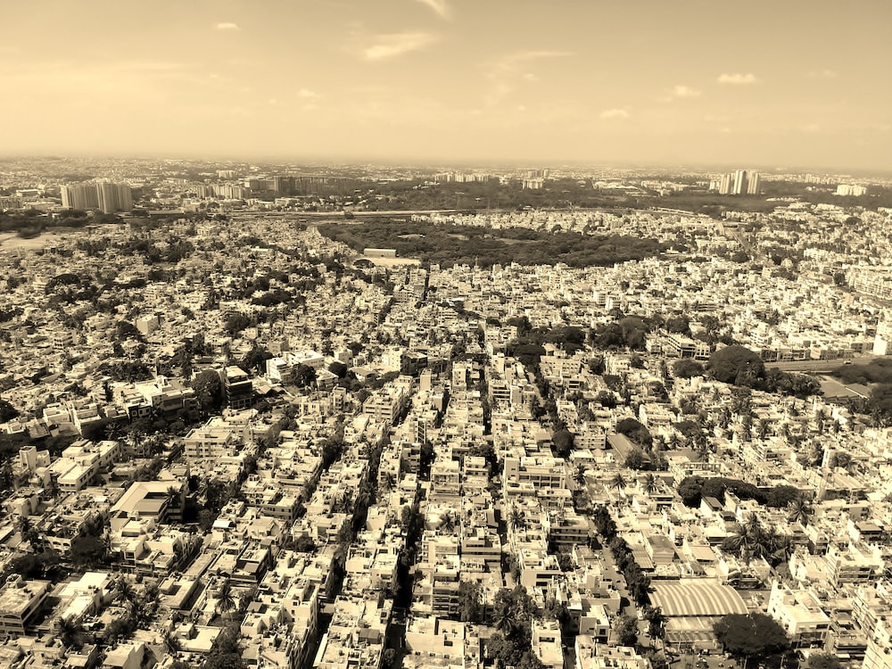 aerial photo of city skylines