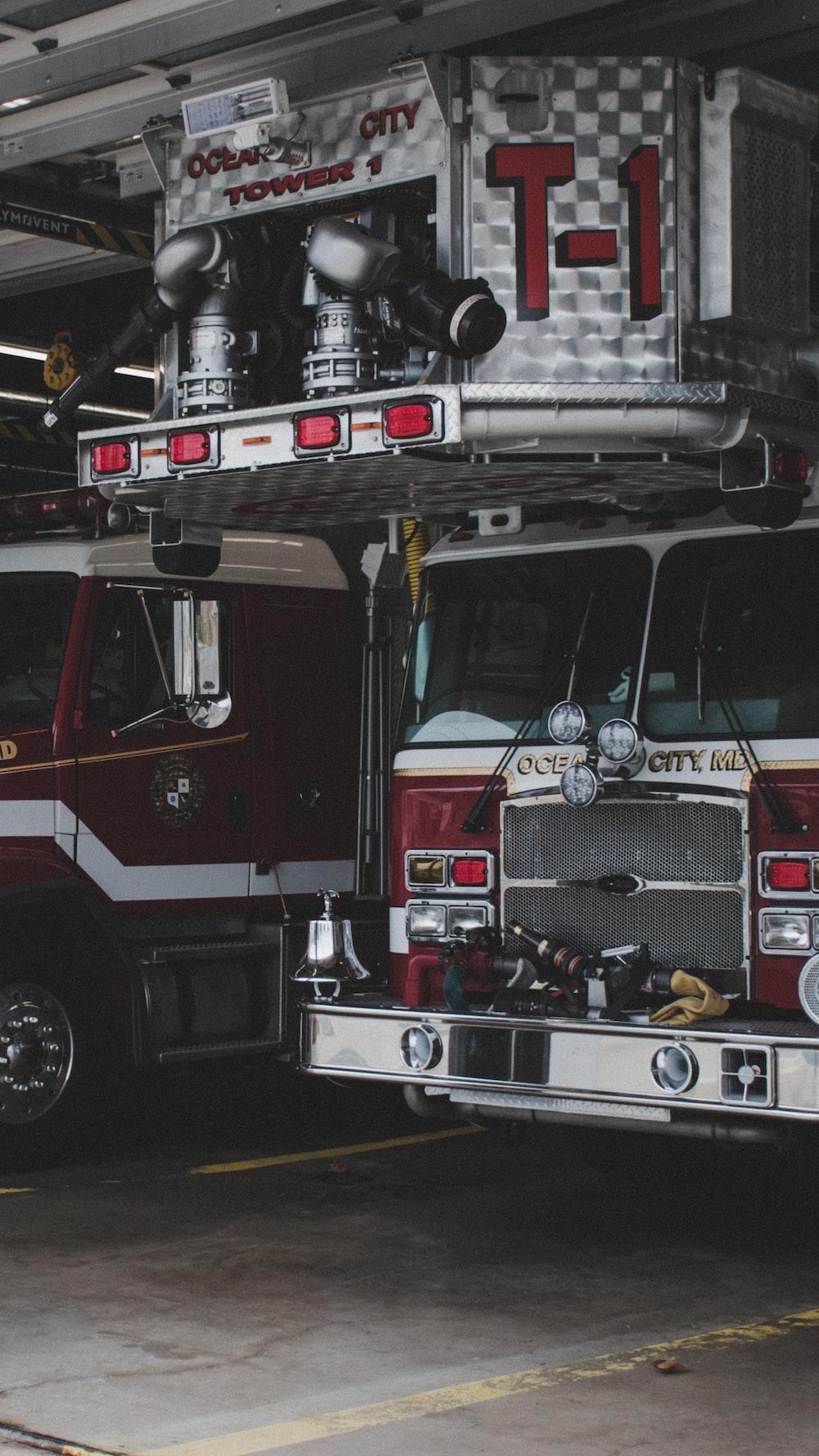 firetruck in building