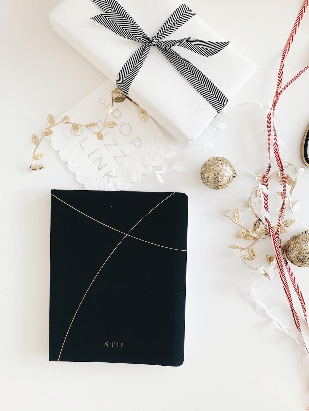 white present on white table