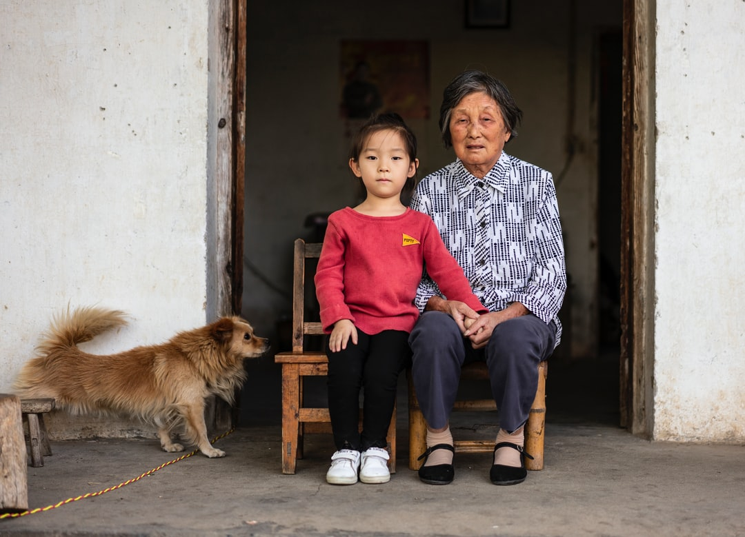 Daughter and grandmother, taken during the National Day holiday in Anhui's hometown