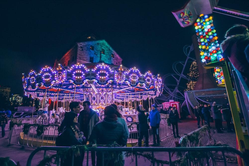 carousel during nighttime