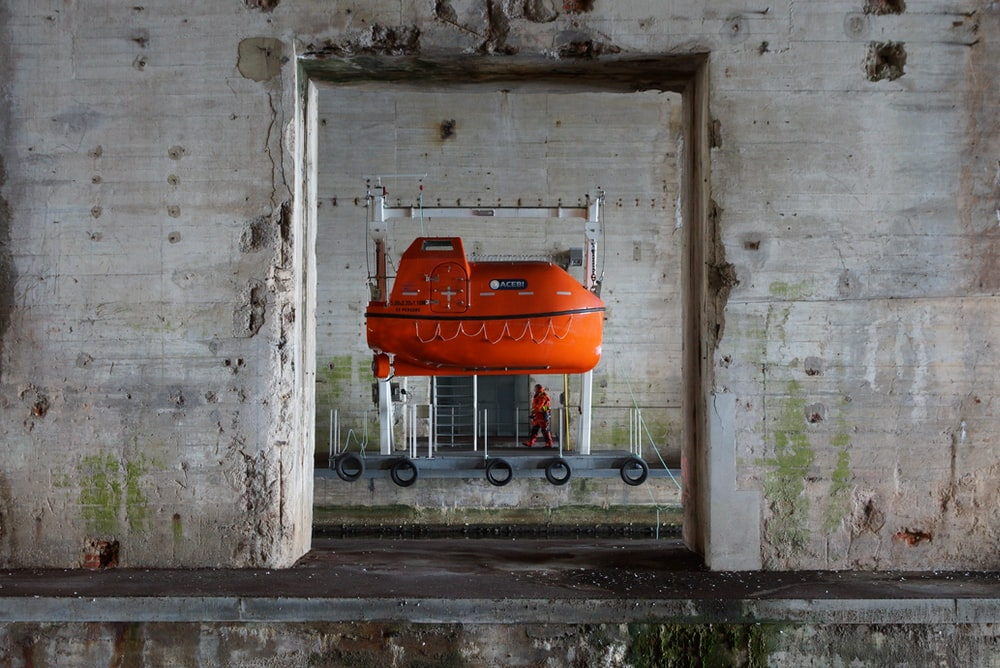 orange hanging submarine