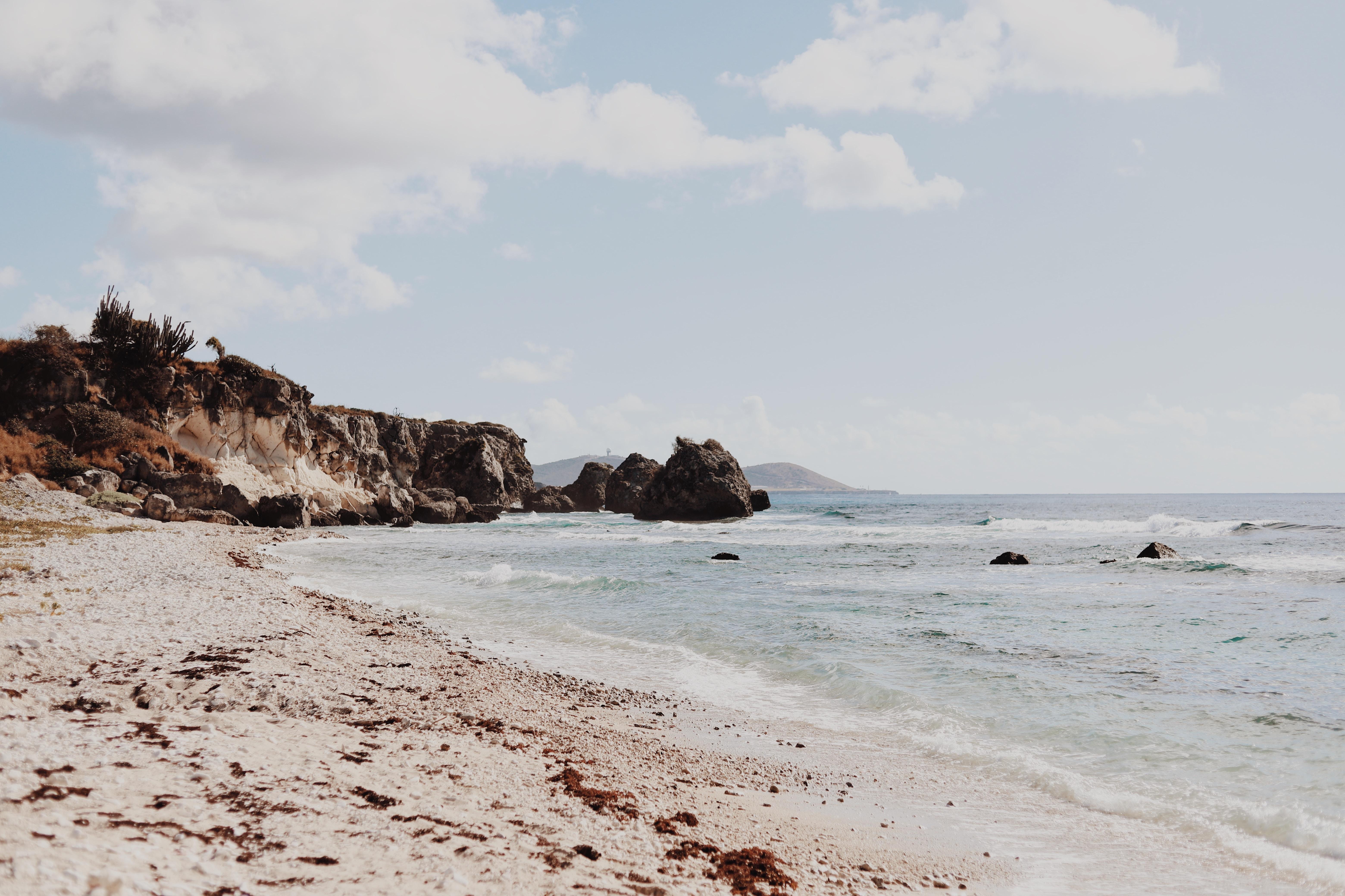 rock formation near shoreline