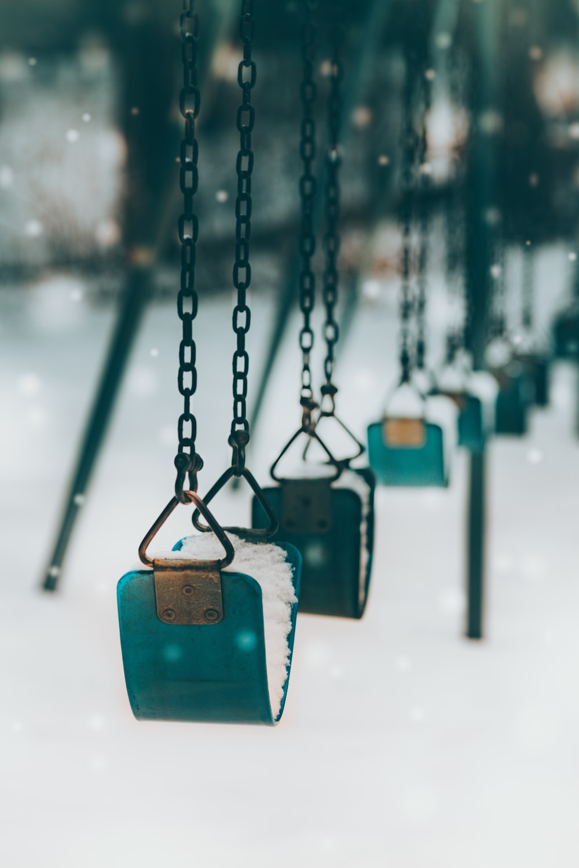 vacant green outdoor swing